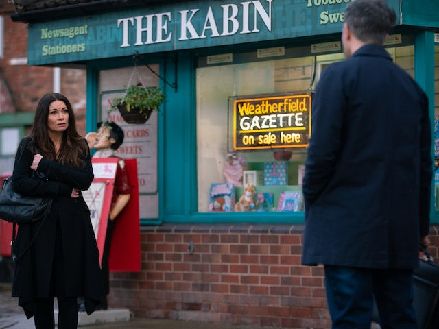 Carla on the second episode of Coronation Street on February 24, 2021