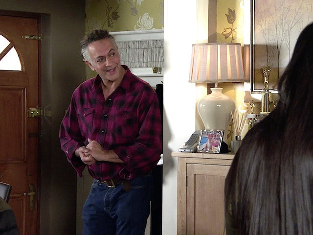 Dev on the first episode of Coronation Street on February 24, 2021