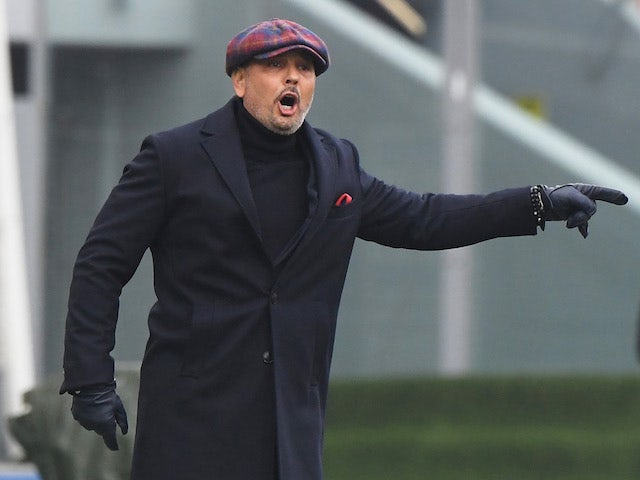 Bologna coach Sinisa Mihajlovic pictured in January 2021