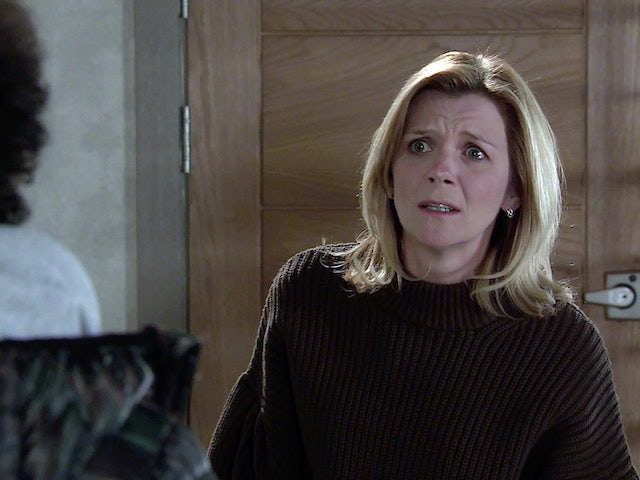 Leanne on the second episode of Coronation Street on March 1, 2021
