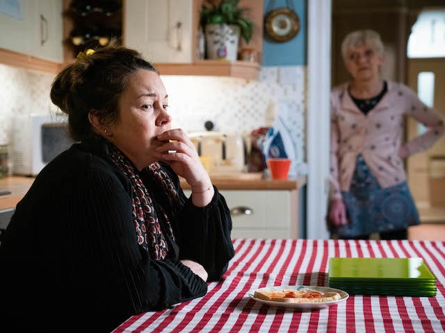 Stacey on EastEnders on March 1, 2021