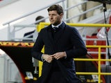 Rangers manager Steven Gerrard before the match in the Europa League on February 18, 2021