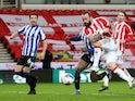 Steven Fletcher scores for Stoke City against Sheffield Wednesday in the Championship on February 16, 2021