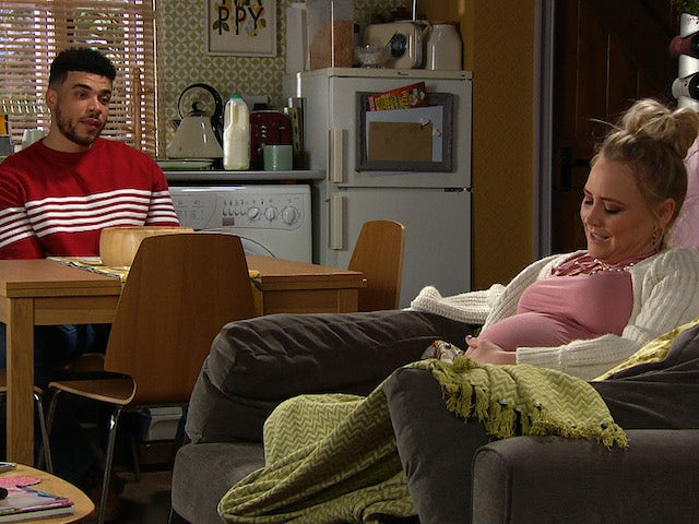 Nate and Tracy on Emmerdale on February 24, 2021