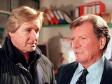 Bill Roache and Johnny Briggs in their 'Ken and Mike' Coronation Street pomp