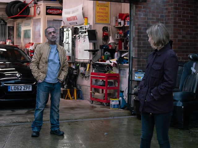 Kevin and Abi on Coronation Street on March 12, 2021