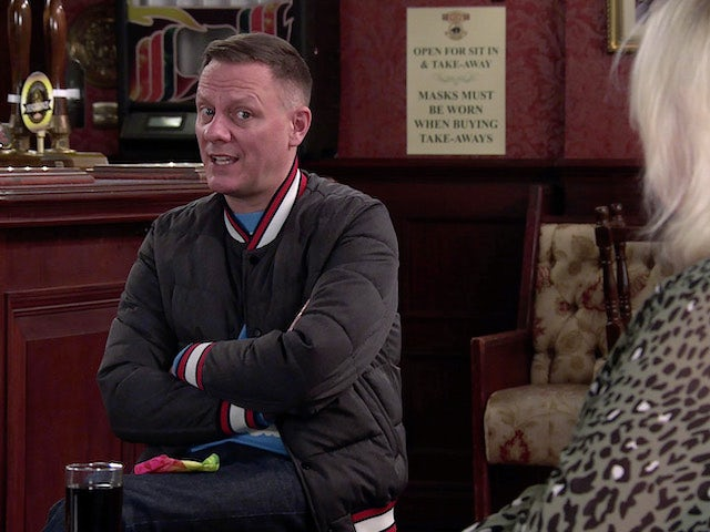 Sean on the second episode of Coronation Street on March 8, 2021