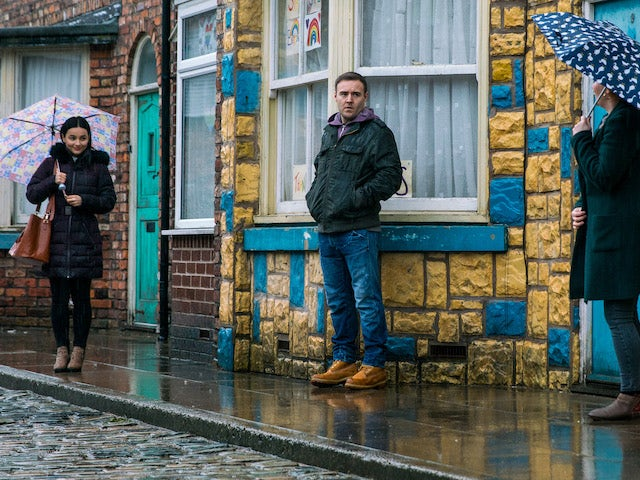 Alina and Tyrone on the first episode of Coronation Street on March 8, 2021