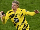 Erling Braut Haaland in action for Borussia Dortmund on February 27, 2021