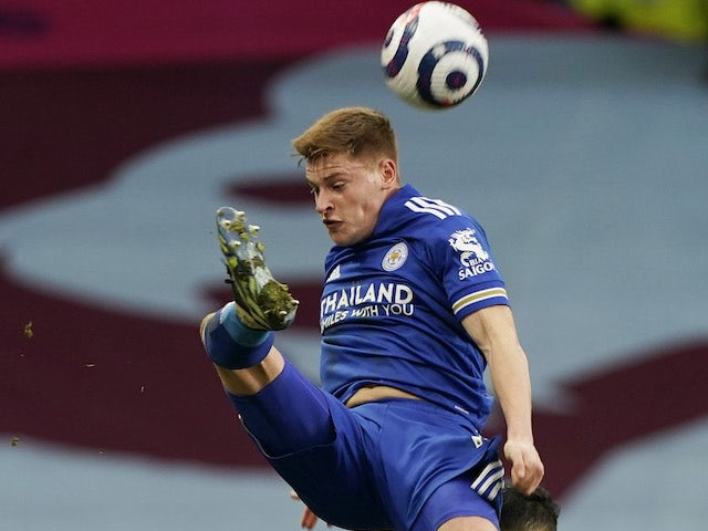 Harvey Barnes in action for Leicester City on February 21, 2021