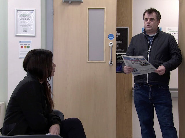 Steve on the first episode of Coronation Street on March 10, 2021