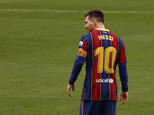 Lionel Messi in action for Barcelona on February 27, 2021