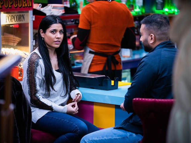 Iqra on EastEnders on March 9, 2021