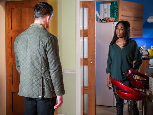 Denise and Jack on EastEnders on March 8, 2021