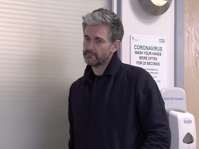 Lucas on the first episode of Coronation Street on March 10, 2021