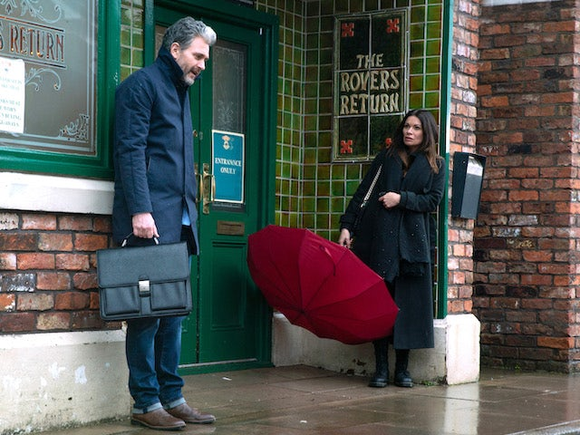 Lucas and Carla on the second episode of Coronation Street on March 8, 2021