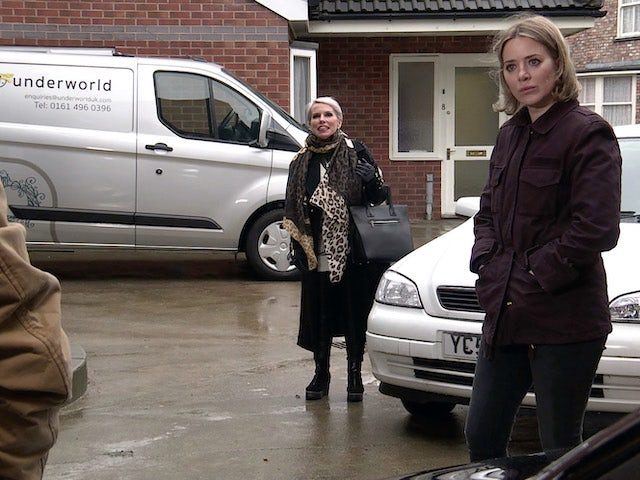 Debbie and Abi on the first episode of Coronation Street on March 10, 2021