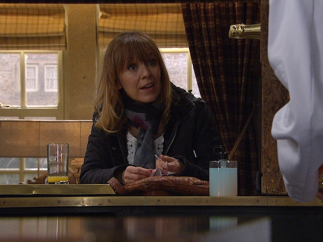 Rhona on the first episode of Emmerdale on March 11, 2021
