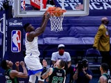 New Orleans Pelicans forward Zion Williamson dunks the ball against Boston Celtics on February 21, 2021