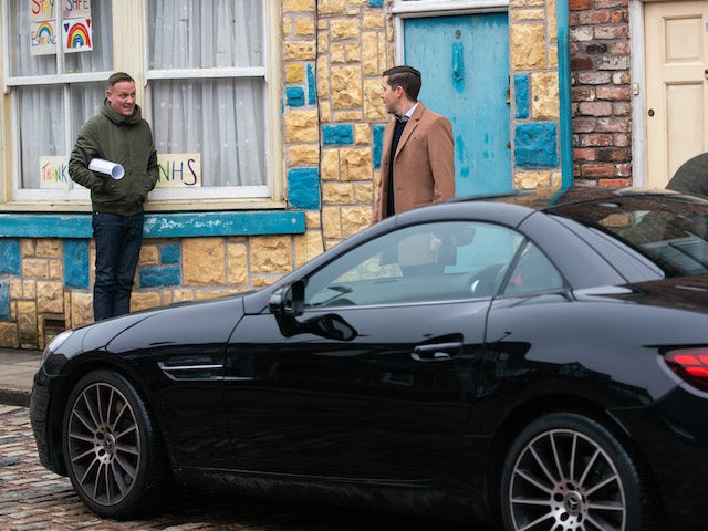 Steve and Todd on the second episode of Coronation Street on March 10, 2021