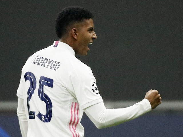 Real Madrid's Rodrygo Goes pictured in November 2020