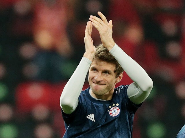 Bayern Munich forward Thomas Muller pictured in February 2021