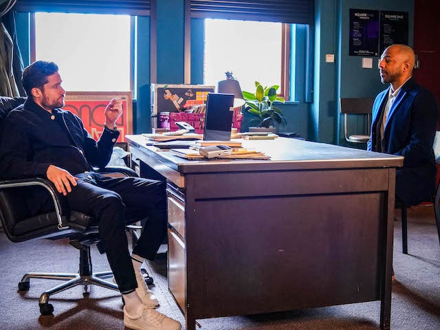 Caleb and Lucas on EastEnders on March 12, 2021
