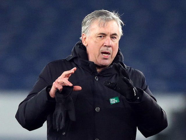 Everton manager Carlo Ancelotti pictured on March 1, 2021