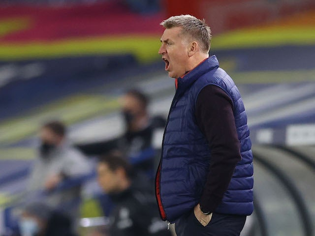 Aston Villa manager Dean Smith pictured on February 27, 2021