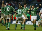 Ireland celebrate beating England at the Six Nations in 2004