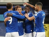 Richarlison celebrates scoring for Everton against Southampton in the Premier League on March 1, 2021