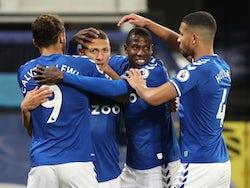 Richarlison celebrates scoring for Everton against Southampton in the Premier League on March 1, 2021