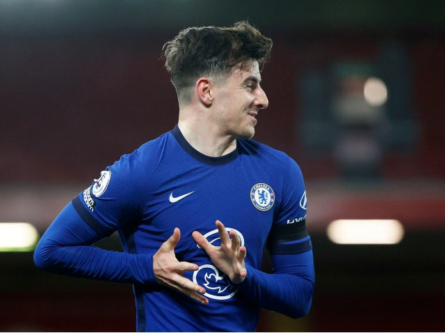 Mason Mount in action for Chelsea in March 2021
