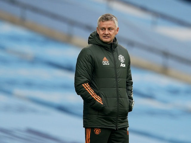 Manchester United manager Ole Gunnar Solskjaer pictured on March 7, 2021