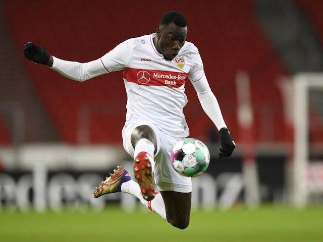 Silas Wamangituka in action for Stuttgart on January 2, 2021