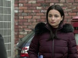 Alina on the first episode of Coronation Street on March 24, 2021