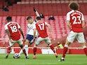 Erik Lamela scores a rabona for Tottenham Hotspur against Arsenal in the Premier League on March 14, 2021