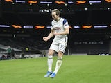 Tottenham Hotspur's Harry Kane celebrates scoring against Dinamo Zagreb in the Europa League on March 11, 2021