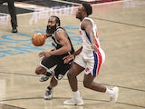 Brooklyn Nets guard James Harden in action on March 13, 2021