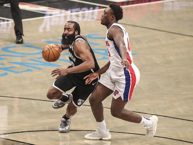 NBA roundup: Harden stars as Brooklyn Nets overcome Detroit Pistons