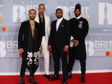 JLS pictured at the Brit Awards in February 2020