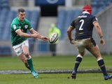 Ireland's Johnny Sexton in action against Scotland in the Six Nations on March 14, 2021