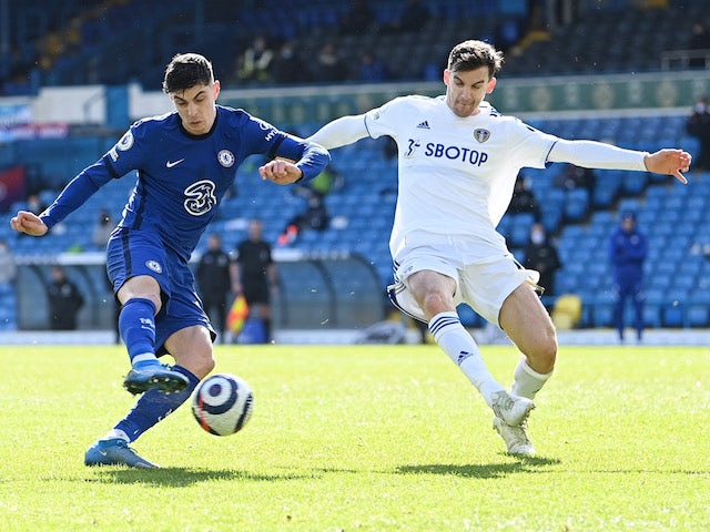 Chelsea's Kai Havertz in action against Leeds United in the Premier League on March 13, 2021