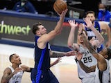 Dallas Mavericks guard Luka Doncic in action against San Antonio Spurs on March 10, 2021