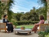 Meghan Markle sits with Oprah Winfrey