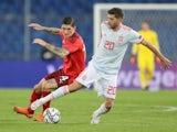 Sergi Roberto in action for Spain in November 2020