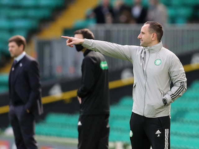 Celtic manager John Kennedy pictured on March 21, 2021