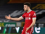 Diogo Jota in action for Liverpool in March 2021