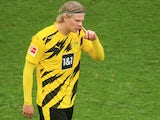 Erling Braut Haaland in action for Borussia Dortmund on March 20, 2021