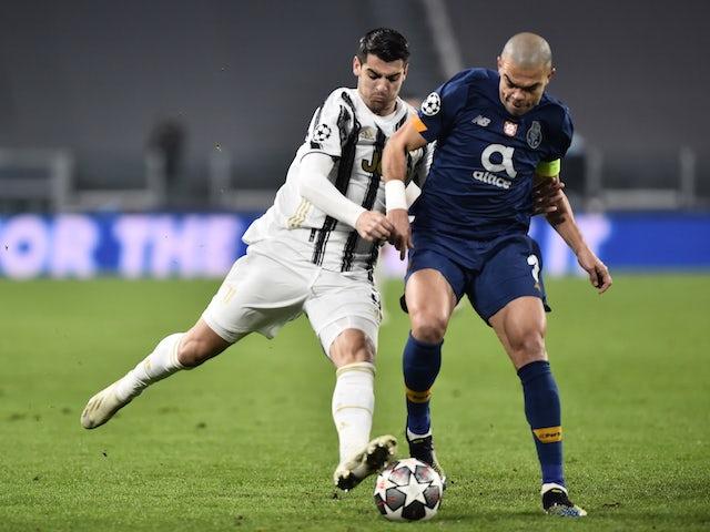 Porto's Pepe in action against Juventus' Alvaro Morata on March 9, 2021